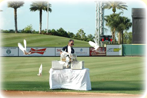 Dove Release at Marchant Stadium