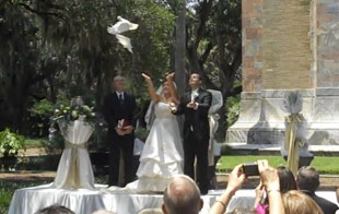 Release birds at wedding