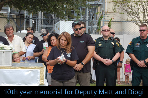 White Dove Release, Deputies Matt and Diogi 10 year memorial.