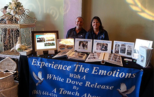 White doves at Vendor Show