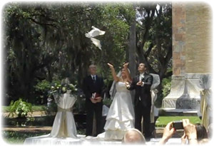 White Dove Release at Florida Wedding